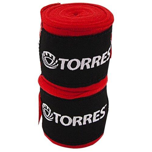 Кистевые бинты TORRES PRL62018 2.5 м x 5 см красный