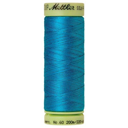 Нить для машинного квилтинга SILK-FINISH COTTON 60, 200 м 100% хлопок 1394 Caribbean Blue ( 9240-1394 )