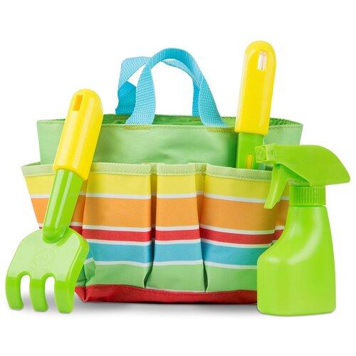 Купить Sunny Patch Набор для садоводства в сумочке (Зеленый) Melissa Doug 6741, Melissa & Doug, Наборы в песочницу