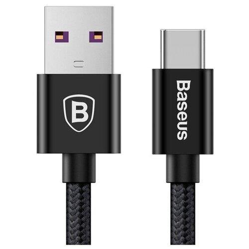Кабель Baseus Speed QC USB - USB Type-C (CATKC) 1 м, черный кабель baseus double fast charging usb usb type c catkc 1 м красный