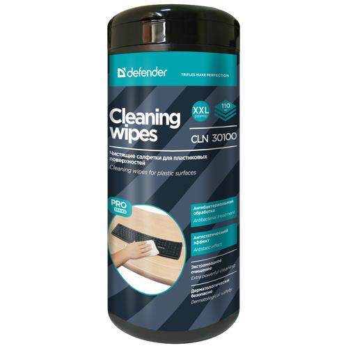 Фото - Defender Cleaning Wipes CLN 30100 влажные салфетки 110 шт. для оргтехники, для клавиатуры салфетки чистящие defender eco cln 30300