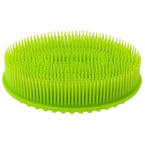Мочалка ROXY-KIDS силиконовая овальная зеленый