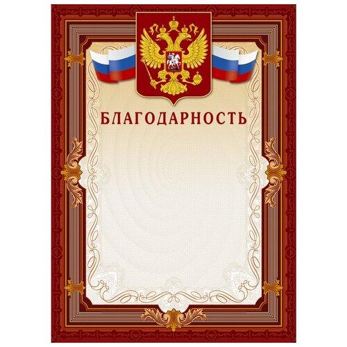 Благодарность Комус А4, рамка, герб, триколор