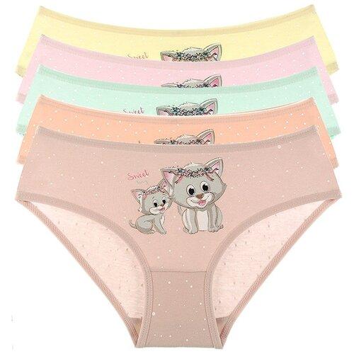 Купить Трусы для девочек 41520GR, Цвет: Микс, Размер: 2/3, 5шт. в упаковке, Donella, Белье и купальники