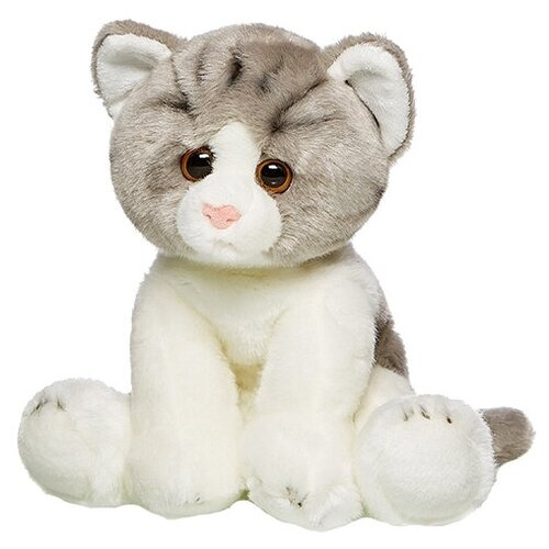 Мягкая игрушка Maxitoys Котик сидячий серо-белый 30 см игрушка мягкая maxitoys калифорнийский кролик 30 см