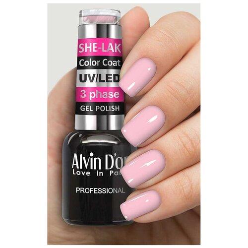Купить Гель-лак для ногтей Alvin D'or She-Lak Color Coat, 8 мл, 35103