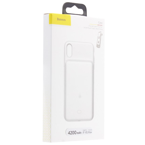 Чехол Аккумулятор Baseus Silicone Smart Backpack Power For iP XR 6.1inch Белый на 3900 mAh
