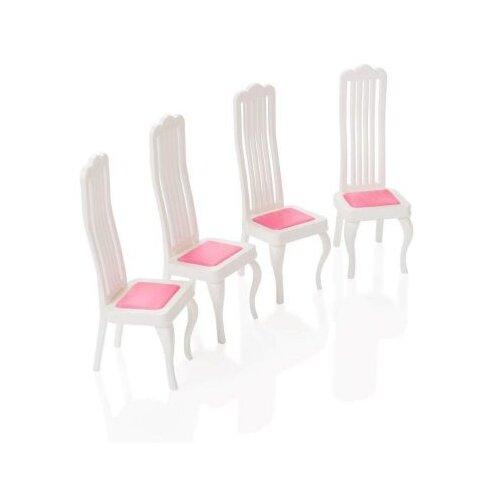 Купить Мебель для кукол Огонек Стулья белые (С-1389), ОГОНЁК