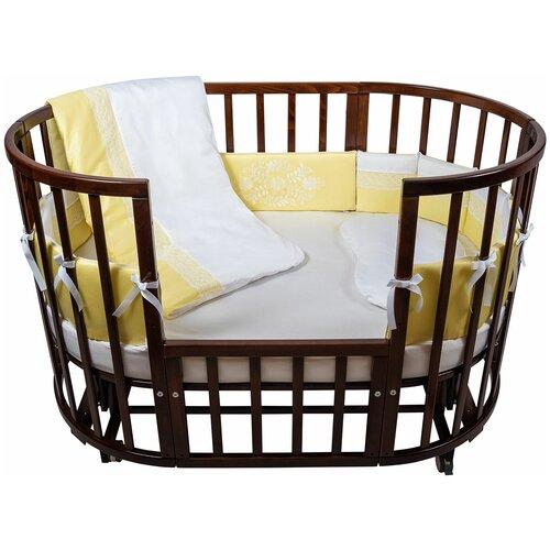 спальные конверты chepe нежность Комплект в кроватку Chepe for Nuovita Tenerezza / Нежность 6 предметов (бело-желтый)
