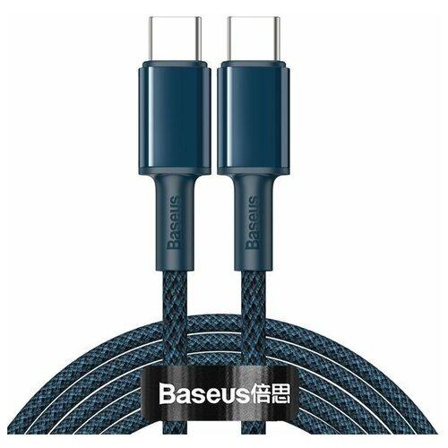 Кабель Baseus High Density Braided Fast Charging Data Cable Type-C - Type-C 100W 2m Синий CATGD-A03 кабель baseus high density braided fast charging cable usb type c usb type c 5 a 1 м цвет
