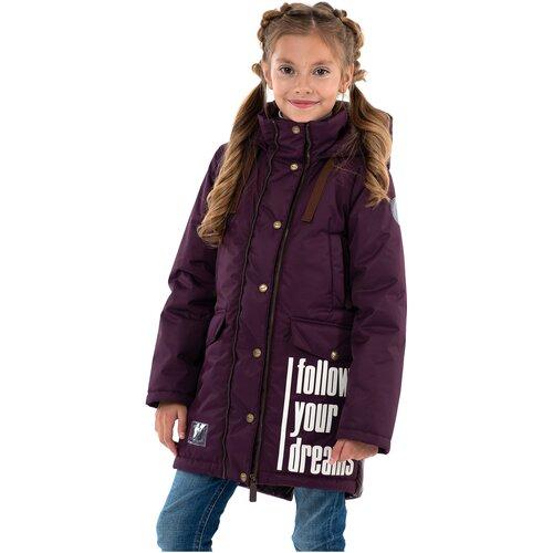 Купить Парка для девочки Talvi 122202, размер 140-68, цвет лиловый, Куртки и пуховики