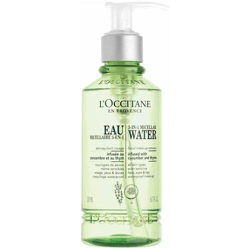 LOccitane en Provence мицеллярная вода 3в1 с чабрецом и огурцом, 200 мл