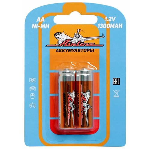 Фото - Батарейки AA HR6 аккумулятор Ni-Mh 1300 mAh 2шт. аккумулятор aa fujitsu hr 3utceu 4b 1900 mah 4 штуки