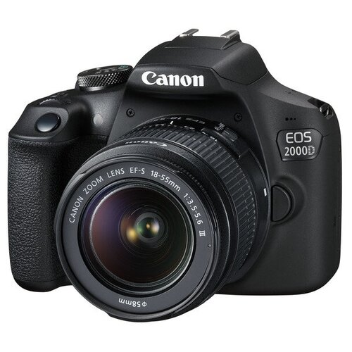 Фото - Фотоаппарат Canon EOS 2000D Kit черный EF-S 18-55mm f/3.5-5.6 III телеконвертер canon extender ef 2x iii