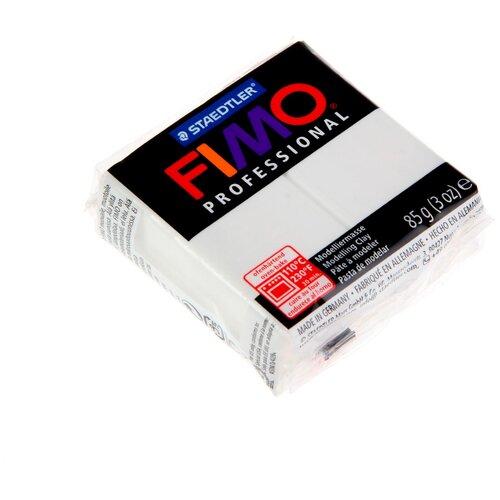 Купить Полимерная глина FIMO Professional запекаемая 85 г белый (8004-0), Глина