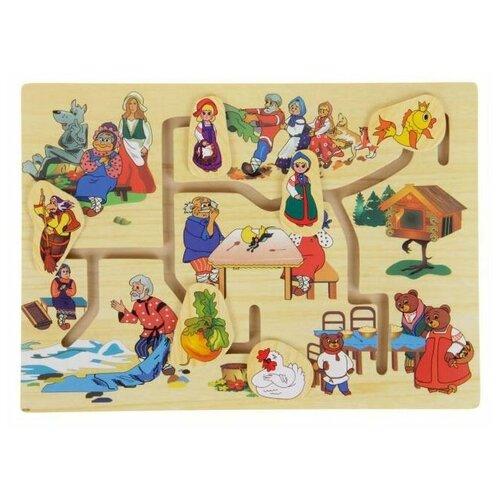 Купить Лабиринт Лесная мастерская Русские сказки , 6 фигур (269068), Развитие мелкой моторики