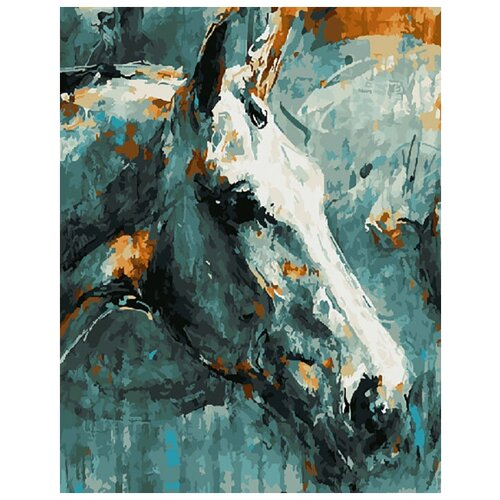 Купить Картина по номерам ВанГогВоМне ZX 20468 Лошадь 40х50 см, Картины по номерам и контурам
