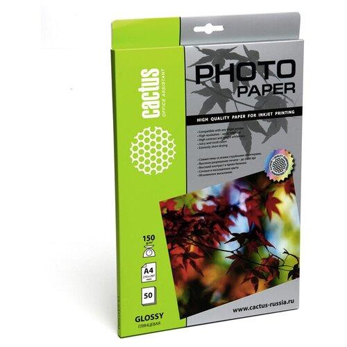 Фото - Бумага cactus А4 CS-GA415050 150 г/м² 50 лист., белый бумага cactus cs ga415050 a4 150г кв м глянцевая 50л