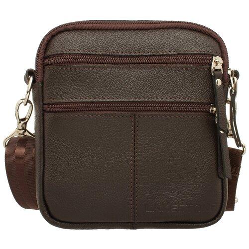 Фото - Сумка через плечо Greyfield Brown мужская кожаная коричневая сумка milano brown 9282 коричневая