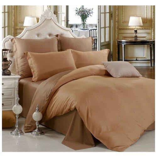 Постельное белье 1.5-спальное Valtery BS-11, сатин, 2 наволочки 70 х 70 см, коричневый