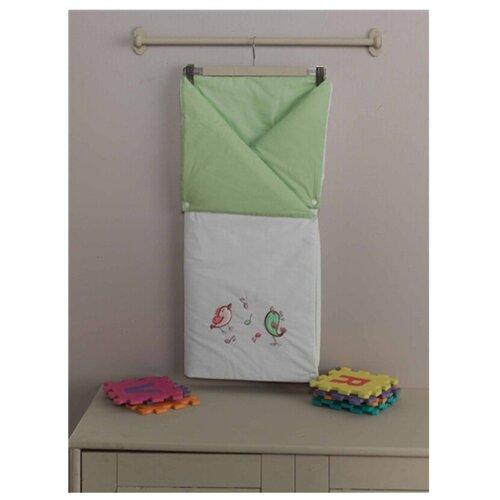 Купить Конверт-одеяло Kidboo Singer Birds 90 см зеленый, Конверты и спальные мешки