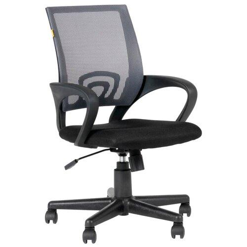 Компьютерное кресло Chairman 696 офисное, обивка: текстиль, цвет: черный/серый недорого