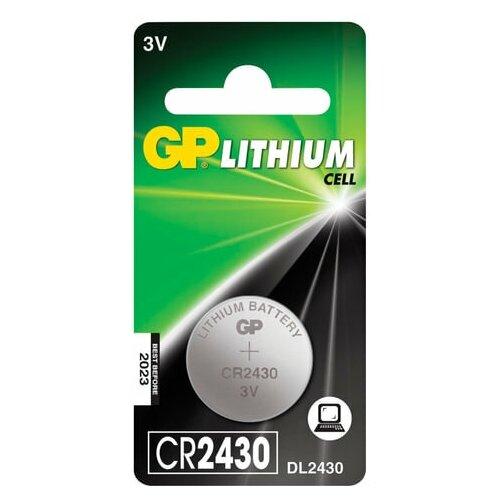 Фото - Батарейка GP Lithium, CR2430, литиевая, 1 шт., в блистере, CR2430-8C1, 2 шт. батарейка gp lithium cr2430 1 шт