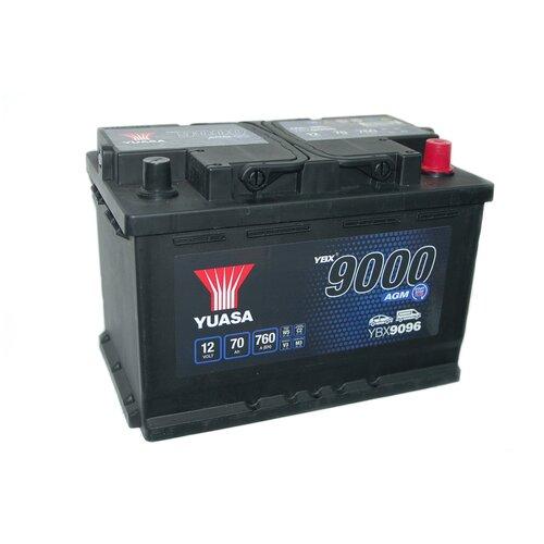 Автомобильный аккумулятор YUASA AGM 70Aч YBX9096-070