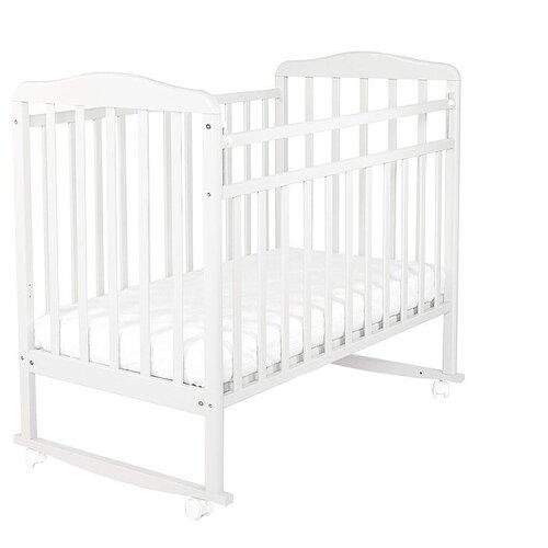 Кроватка СКВ-Компани 16011x Митенька (качалка), на полозьях белый