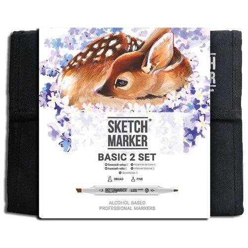Купить SketchMarker Набор маркеров Basic Set 2, 36 шт., Фломастеры и маркеры