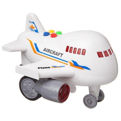 Купить Самолетик инерционный Junfa пластмасса, свет, звук, в коробке, 15, 5*15*14 см (RJ022), Junfa toys, Машинки и техника