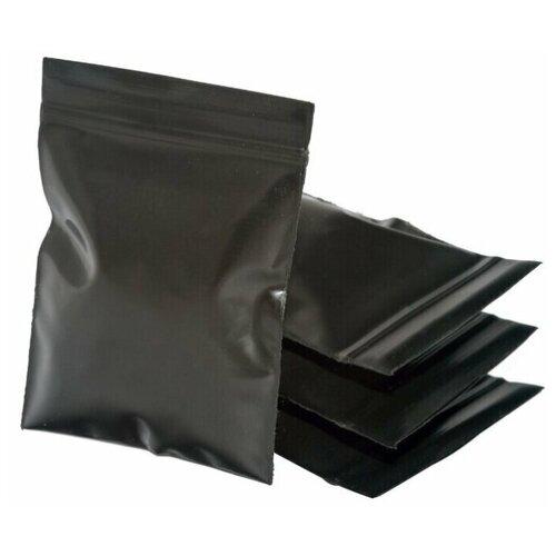 Упаковочные цветные зип пакеты с замком zip-lock 6х7 см, черный, 50 шт, для хранения продуктов, специй, бытовых мелочей