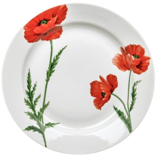Фото - Тарелка обеденная Дулевский фарфор Маки 24 см тарелка суповая дулевский фарфор золото 24 см