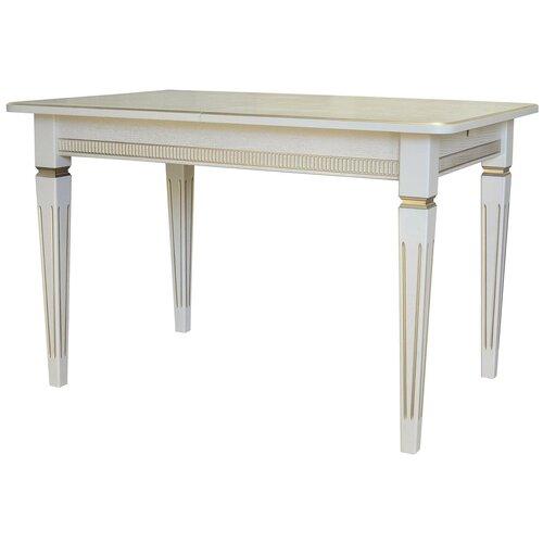Стол кухонный Мебелик Васко В 87Н, раскладной, ДхШ: 150 х 90 см, длина в разложенном виде: 200 см, слоновая кость