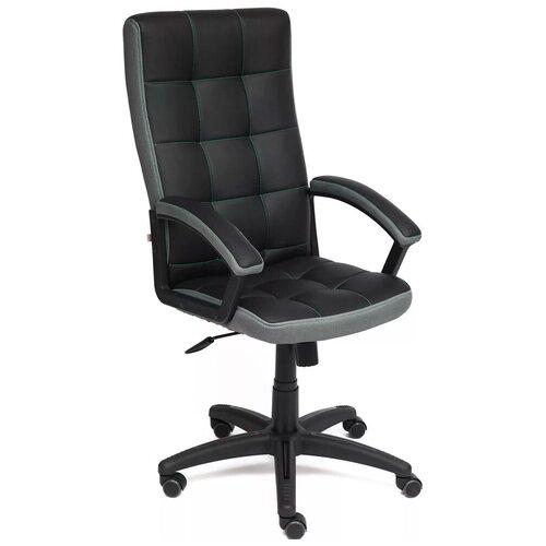 Фото - Компьютерное кресло TetChair Тренди для руководителя, обивка: текстиль/искусственная кожа, цвет: черный/серый компьютерное кресло tetchair багги обивка текстиль искусственная кожа цвет черный серый