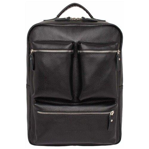 Кожаный рюкзак для ноутбука Norley Black недорого