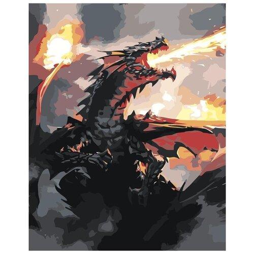 Купить Картина по номерам «Огонь дракона», 40x50 см, Живопись по Номерам, Живопись по номерам, Картины по номерам и контурам