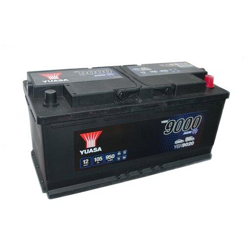 Автомобильный аккумулятор YUASA AGM 105Aч YBX9020-105