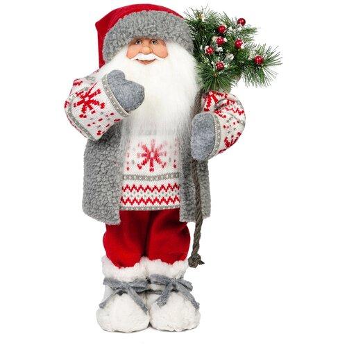 Мягкая игрушка Дед Мороз в свитере со снежинкой, 32 см фигурка maxitoys дед мороз в свитере со снежинкой и лыжами 32 см белый