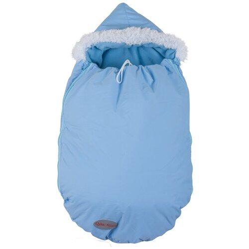 Купить Конверт-мешок Чудо-Чадо Зимовенок 74 см голубой, Конверты и спальные мешки