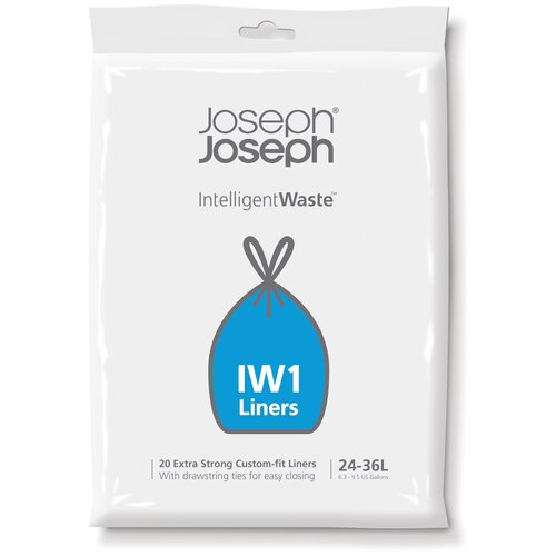 Мешки для мусора Joseph Joseph 30006 36 л, 20 шт., белый контейнер для мусора с прессом titan 20 л серый joseph joseph 30039