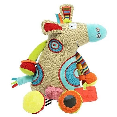 Развивающая игрушка Dolce Коровка, бежевый развивающая игрушка dolce попугайчик бело красно голубой