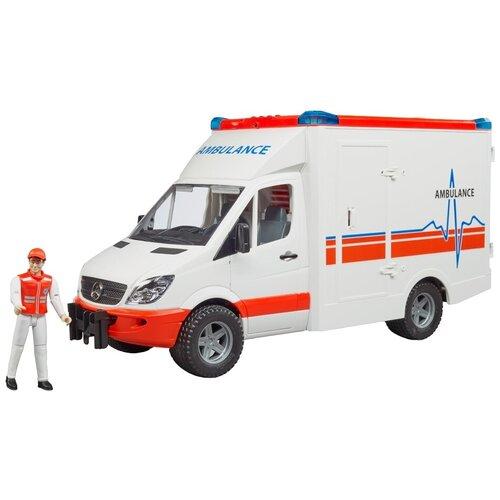 Фургон Bruder MB Sprinter (02-536) с фигуркой водителя 1:16, 45.5 см, белый
