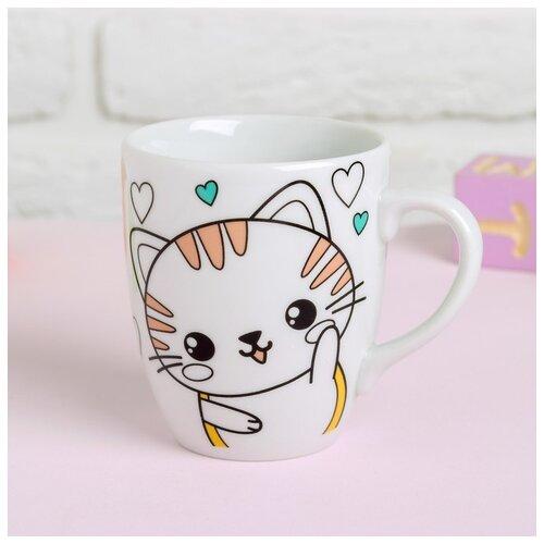 Купить Роспись кружки красками Школа талантов частичное заполнение, Милый котенок (4583504), Роспись предметов