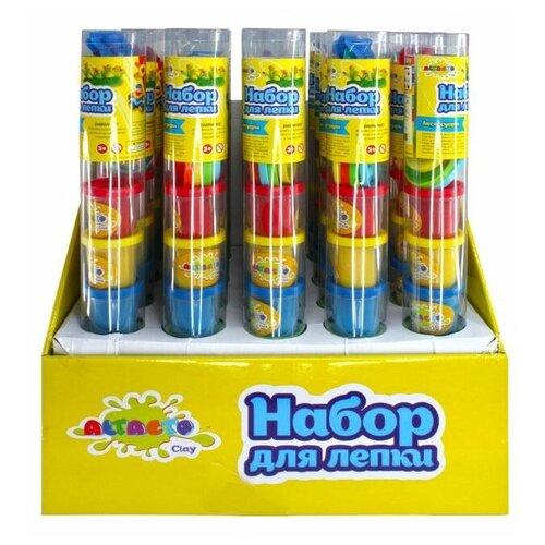 Купить Набор для лепки Altacto Clay 6 цветов, пластиковые аксессуары (6 баночек по 56, 7 гр, с аксессуарами) (ACL1502-145), Пластилин и масса для лепки