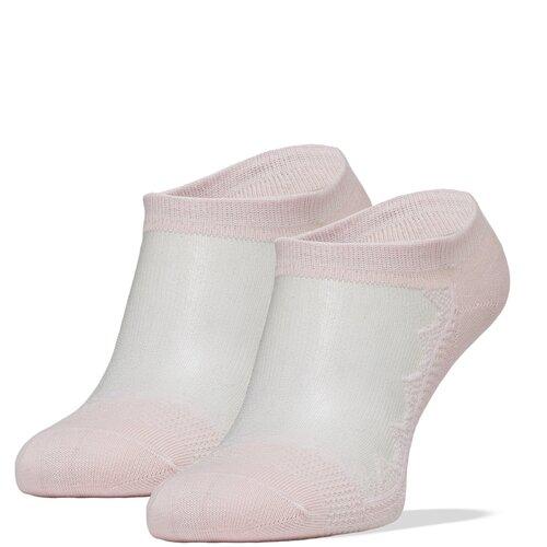 Носки уророченные женские Le Cabaret (бледно-розовый; белый) р-р 36-39 1 пара