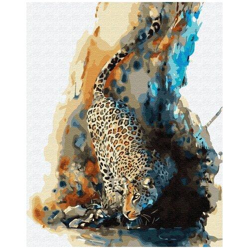 Купить Картина по номерам ВанГогВомне Акварельный леопард 40х50 см, ВанГогВоМне, Картины по номерам и контурам