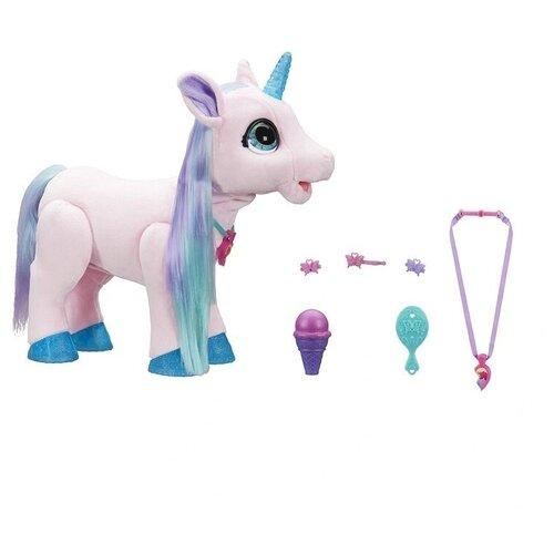 Интерактивная мягкая игрушка FurReal Friends Волшебный единорог Blossom розовый/фиолетовый