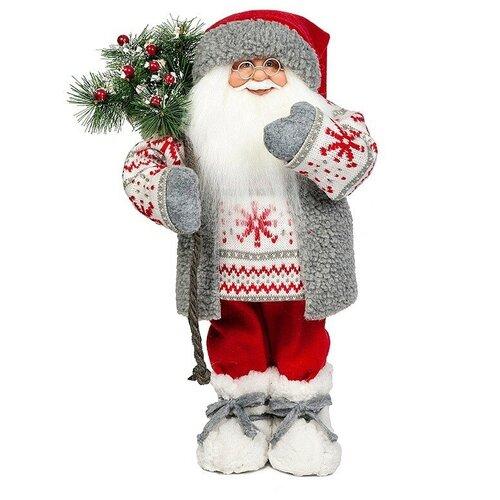 Мягкая игрушка Дед Мороз в свитере со снежинкой, 47 см фигурка maxitoys дед мороз в свитере со снежинкой и лыжами 32 см белый