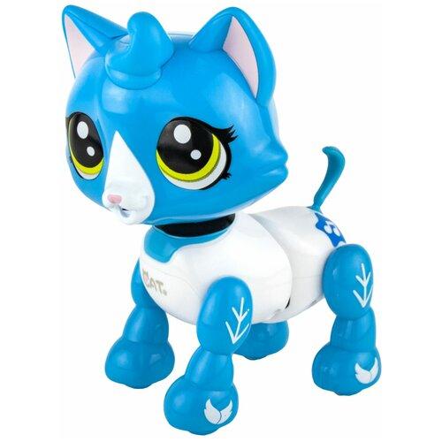 Фото - Робот 1 TOY Robo Pets Котёнок белый/голубой робот 1 toy robo pets котёнок белый голубой